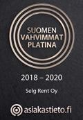 Suomen vahvimmat Platina Selg Rent Oy